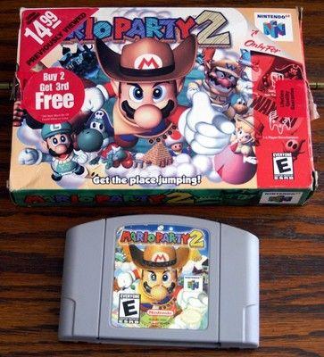 Nintendo 64 N64 Mario Party 2 with Box 045496870690 | eBay