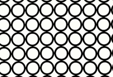 Metro Living Mod Circles Cotton White