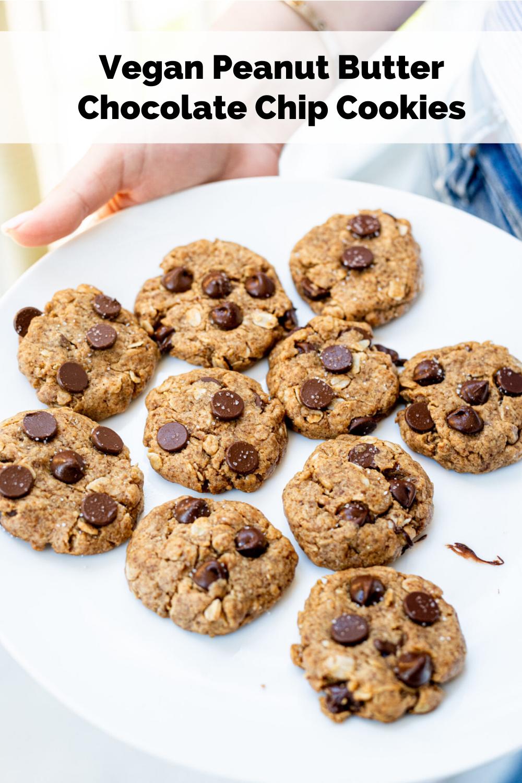 Vegan Peanut Butter Chocolate Chip Cookies Healthygirl Kitchen Recipe In 2020 Peanut Butter Chocolate Chip Butter Chocolate Chip Cookies Peanut Butter Chocolate Chip Cookies