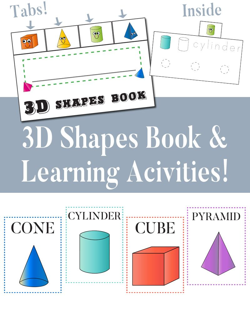 3D Shapes Book & Fun Activities | 3d shapes, Fun activities and ...