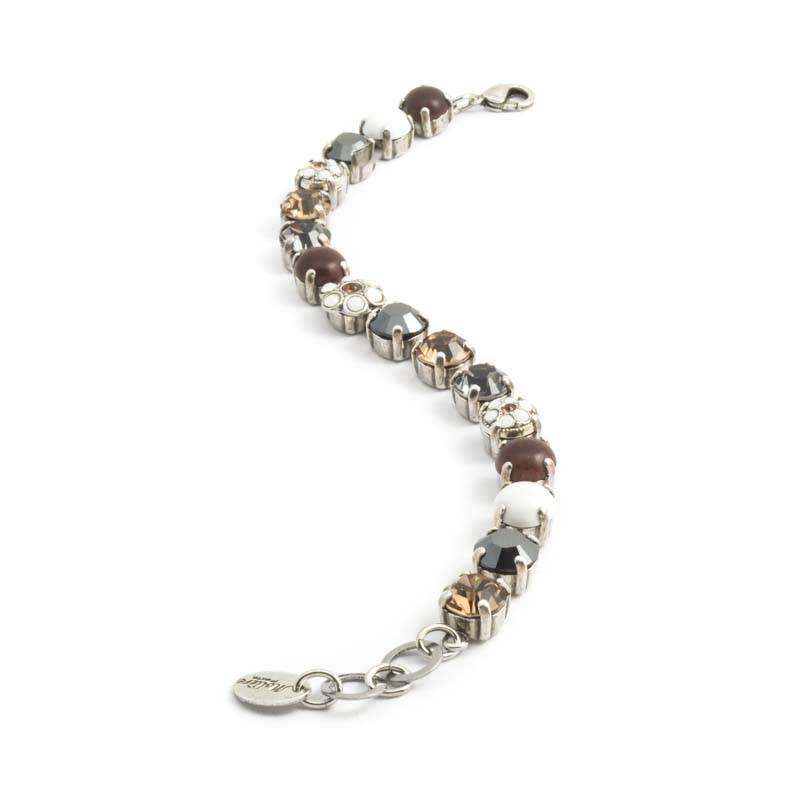 Moliere Paris Bruine armband met Swarosvki Elements kristallen en edelstenen