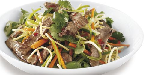 Beef Salad with Crunchy Noodles