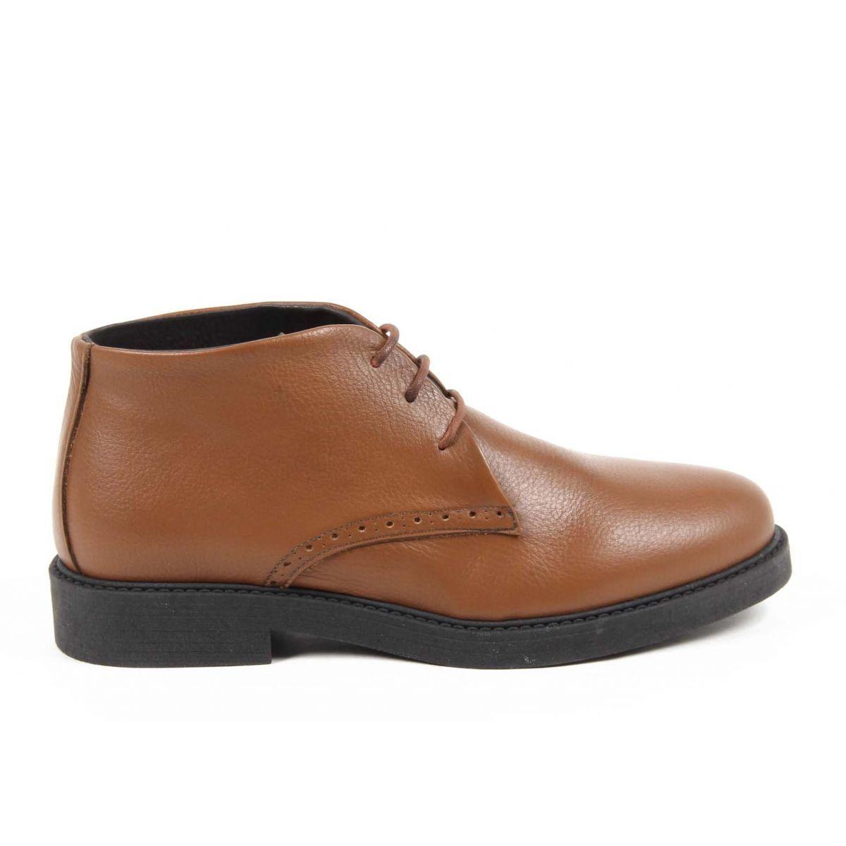 Versace 19.69 Abbigliamento Sportivo Srl Milano Italia Mens Ankle Boot V5156 VITELLO CRUST CUOIO