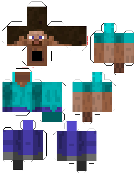 photo relating to Minecraft Steve Printable known as Minecraft papercraft, printable personality reduce out of Steve