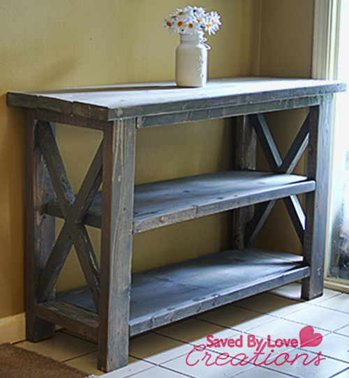 Rustic Console Table Woodworking Diy