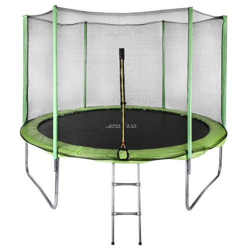 North Gear 10 Foot Trampoline Set With Safety Enclosure And Ladder Jet Com Best Trampoline Trampoline Trampoline Safety