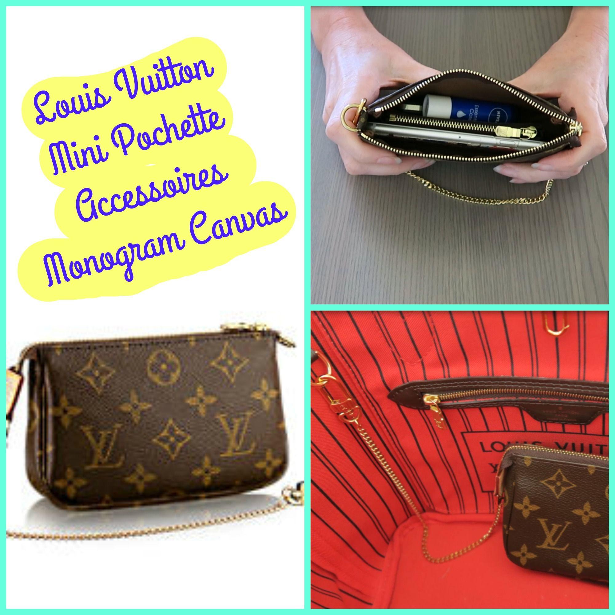 Louis Vuitton Mini Pochette Accessoires in the Monogram canvas. Great as a  wristlet purse or make up bag. 3d1fec1b09d