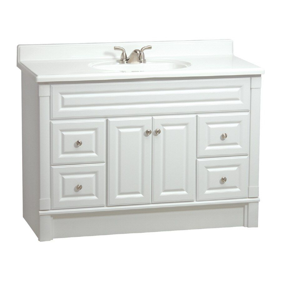 48 Inch Vanity With Sink Lowes In 2020 Home Depot Bathroom