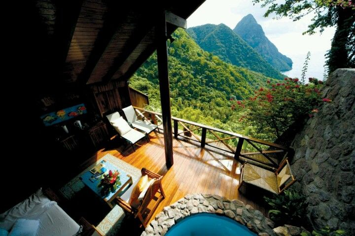 """A view with a room"", Ladera Resort, St. Lucia"