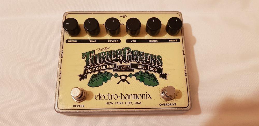 Electro harmonix turnip greens guitar overdrive and reverb