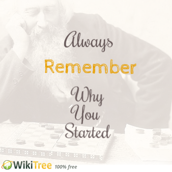 Always Remember Why You Started Wikitree Genealogy Genealogy Quotes Remember Why You Started Inspirational Quotes
