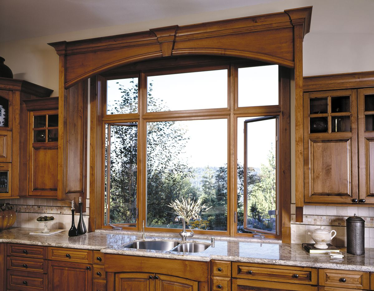 Kitchen window over sink  design tip match your window frames to your cabinets for an