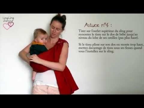 sling porte-bébé : les astuces pour bien porter bébé sur le côté à partir de 4 mois - LLA - YouTube