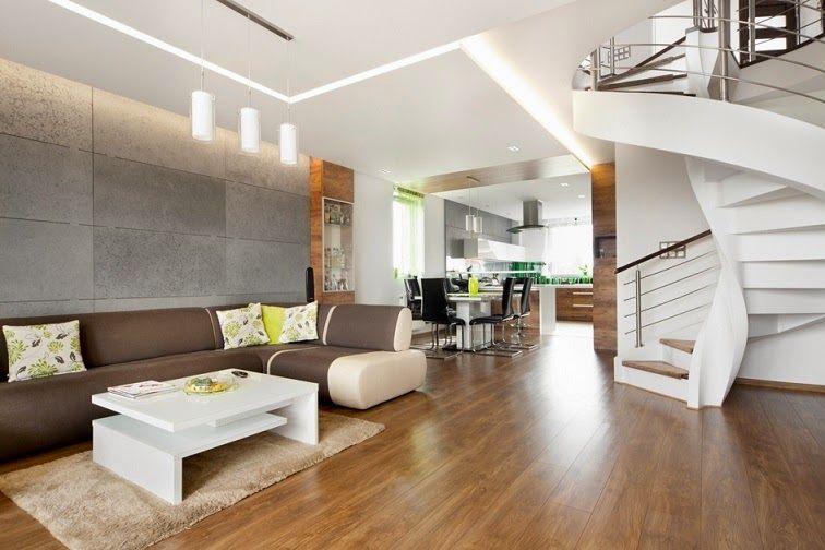 Dise o interior apartamento d plex en sosnowiec for Disenos para departamentos