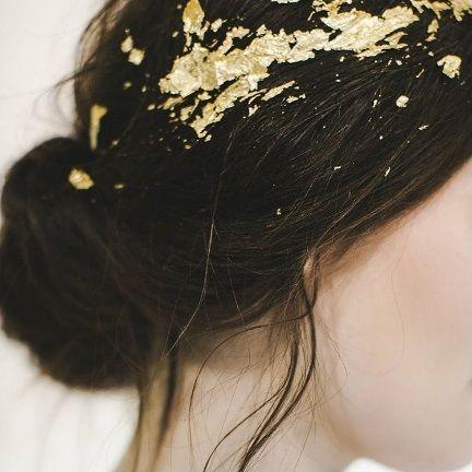 #goldleaf #hairinspiration A nice way to make you shine by ...