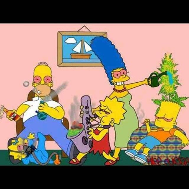 #TheSimpsons #Destroy #Stoners #StonerSimpson #w33daddict #THC #Cannabis #Marijuana #Hash #Hemp #Weed #Blunt #Dope #Junkie #Beer #Reefer #Stoner #Drugs #Pot ...