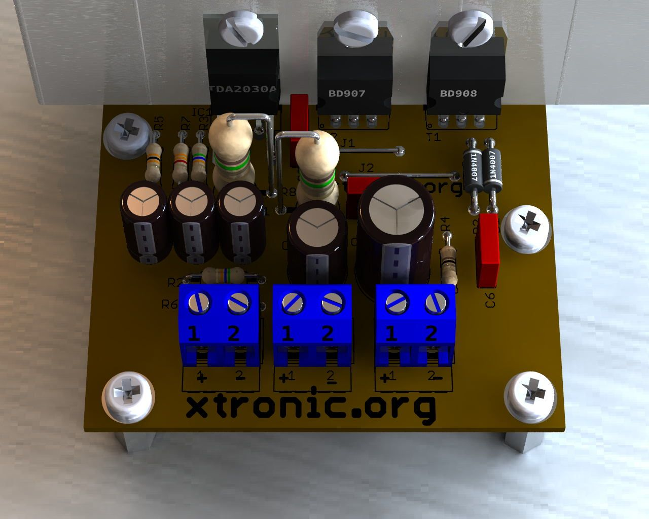 Transistor Tip41 Circuits Of Tip42 Drive Speaker Sound Volt Supply