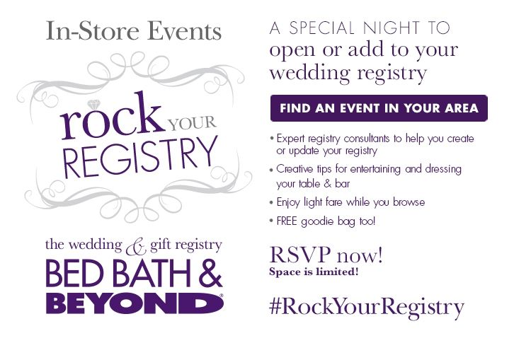 Rock Your Registry Rock Your Registry Www Bedbathandbeyond Com Bed Bath And Beyond Registry Bed Bugs Pictures
