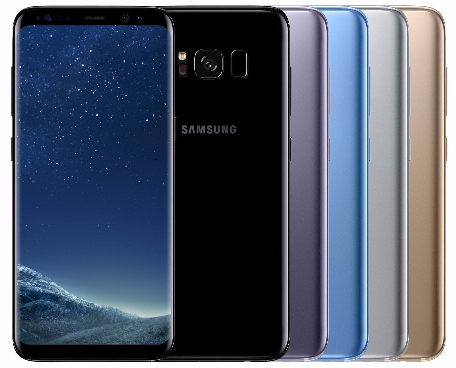 "Samsung Galaxy S8 Sm G955F Factory Unlocked 6 2"" 64Gb Black Silver Gold Blue"
