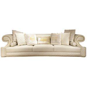 contemporary italian off white leather living room set ...