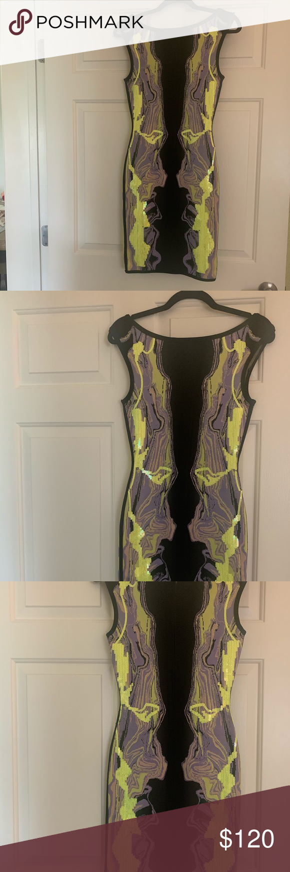Body Con Dress Bodycon dress. Gorgeous material. Fits like a glove. The perfect night out dress! Especially for Miami or Vegas. Never been worn. Perfect condition. Je'Amor Dresses Mini