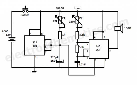 kojak siren circuit