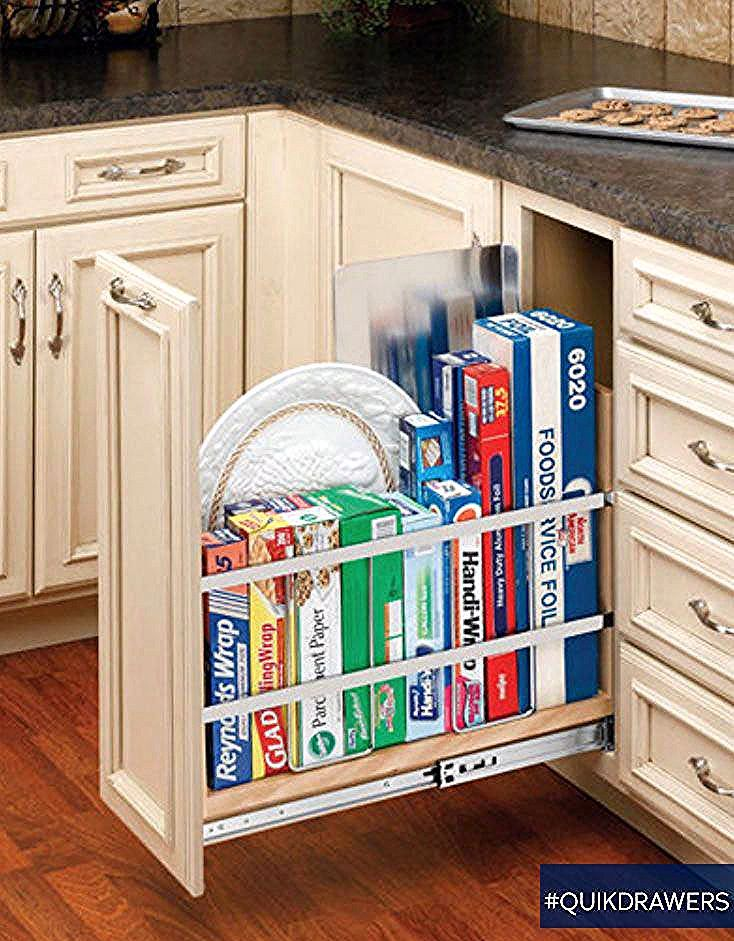 Pullout Tray and Wrap Organizer