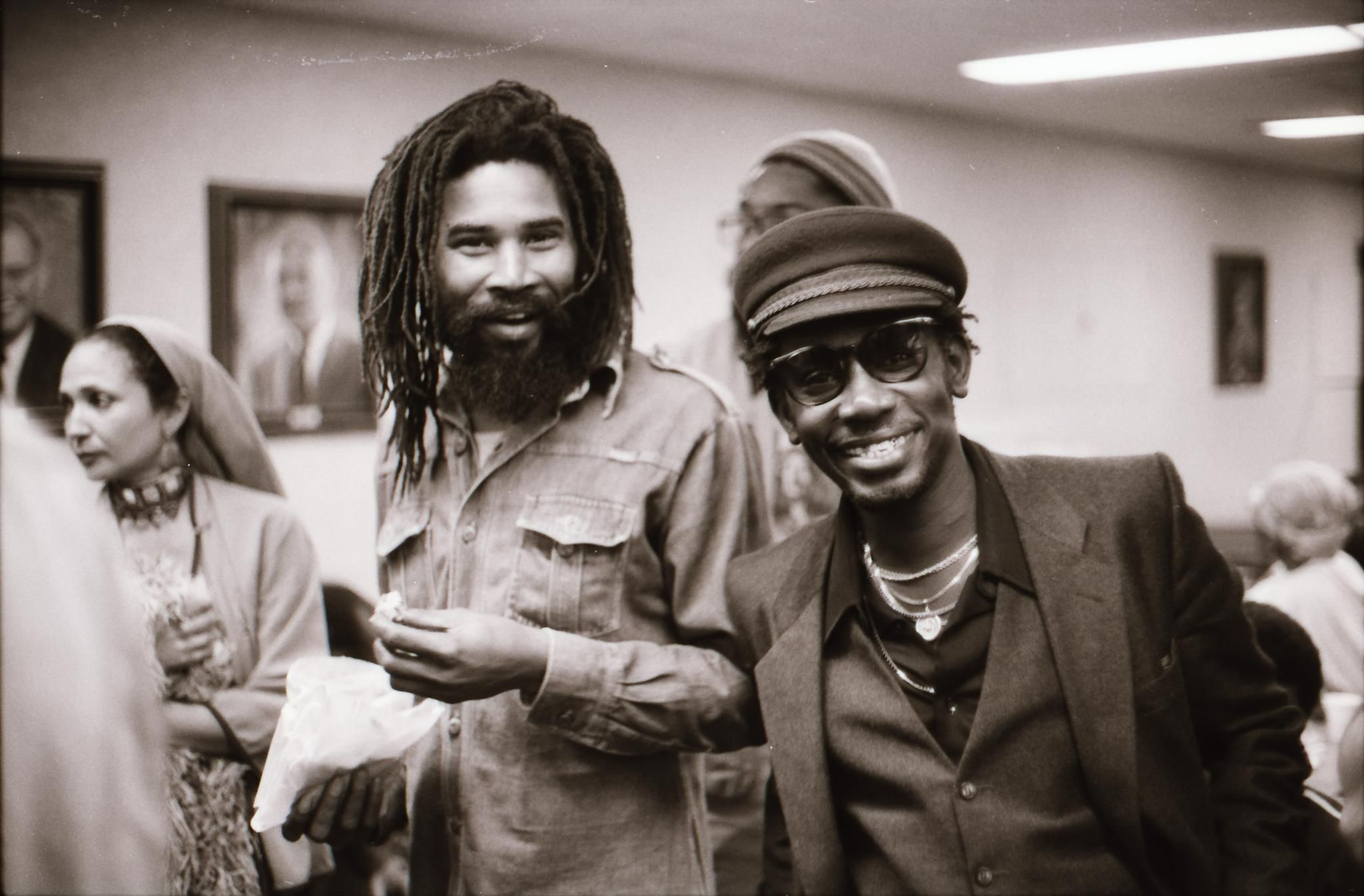 Norman Grant of THE TWINKLE BROTHERS with ERROL BROWN, '82 © Lindsay Oliver Donald