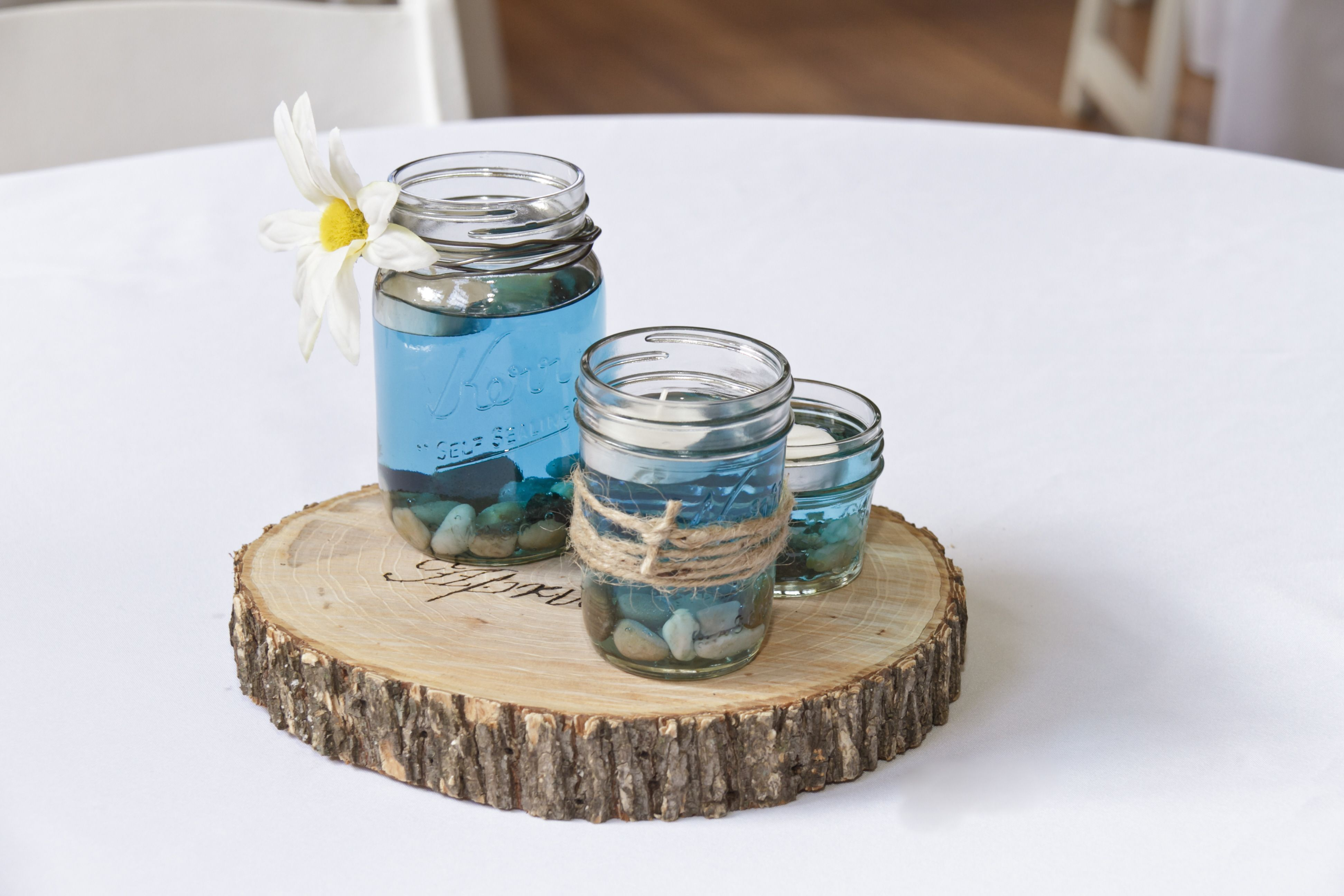 Engraved wood centerpiece wedding ideas pinterest centerpieces