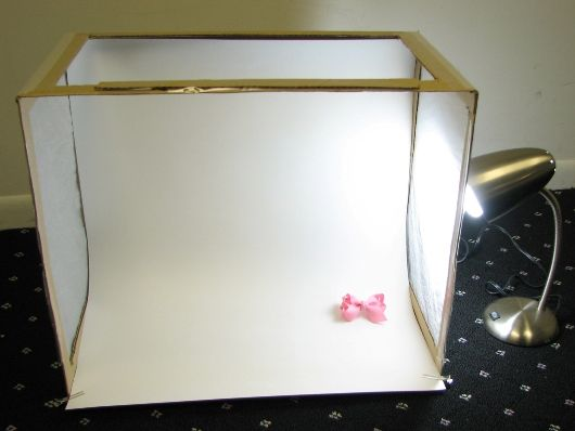 Diy Mini Fotostudio Kartonnendoos Wit Papier Keukenpapier Lamp