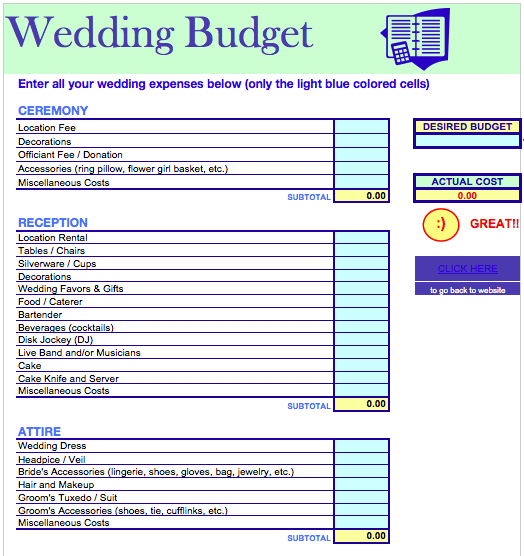 Wedding Budget Template  Budgeting Template And Proposals