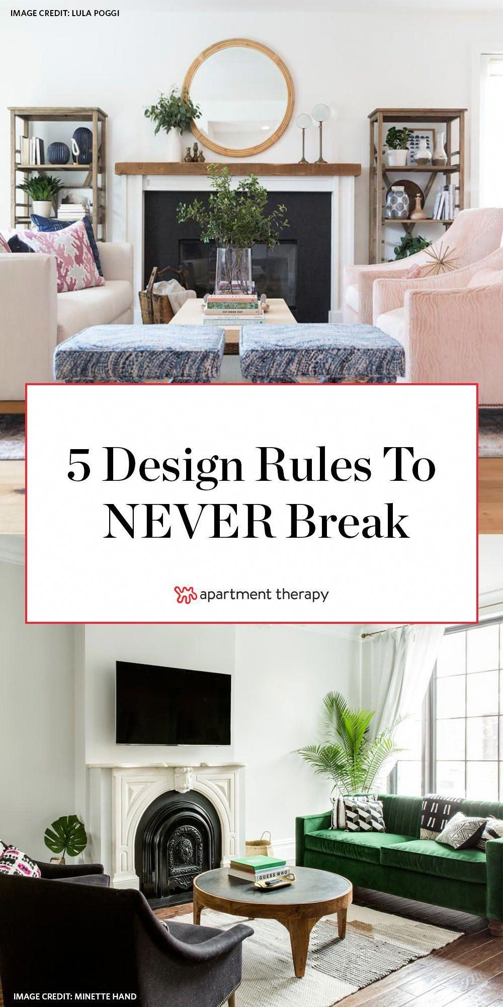 We're all about breaking the rules for the sake of putting your own touch on a space, but these five design commandments are non-negotiable. #designrules #interiordesign #designtips #designhacks #designtrends #HomeDecorAccessories