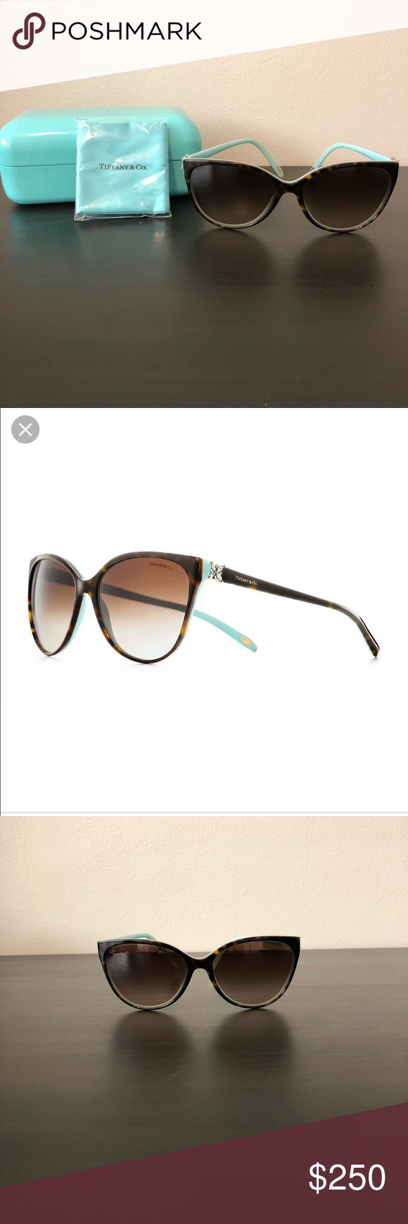 456463b5160 Tiffany Victoria Cat Eye Sunglasses • Like new • Comes with case and new  lens cloth • 100% authentic Tiffany   Co. Accessories Sunglasses