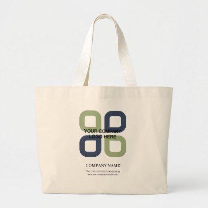 Business Slogan Large Tote Bag