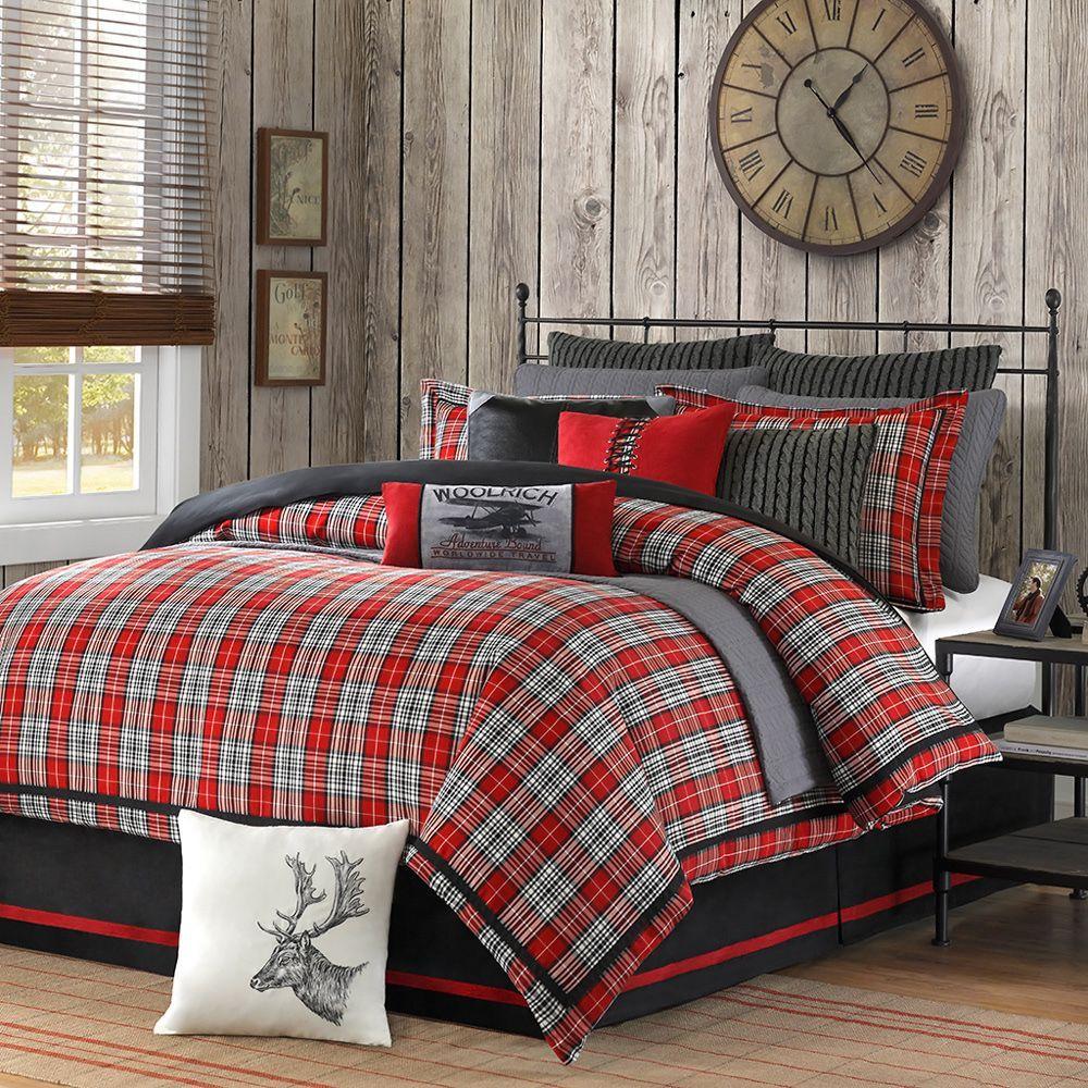 woolrich 'williamsport' plaid piece comforter set by woolrich  - woolrich 'williamsport' plaid piece comforter set by woolrich