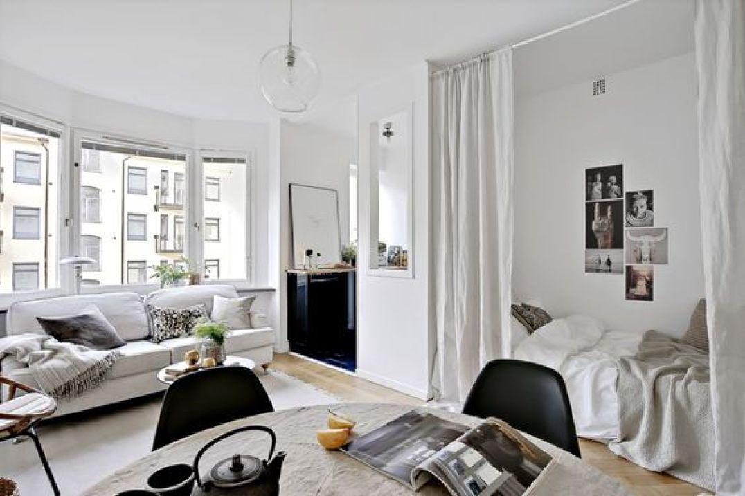 comment am nager un studio un coin nuit dans un espace de vie comment s parer les espaces. Black Bedroom Furniture Sets. Home Design Ideas