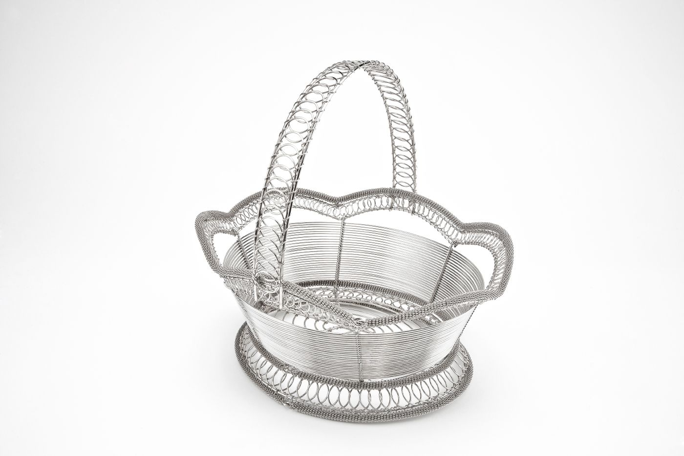 Handmade Wire Flower Girl Basket 3 Just Lovely Different Things
