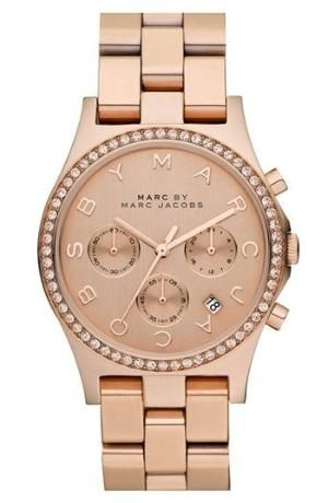 MARC BY MARC JACOBS 'Henry' Chronograph & Crystal Topring Watch, 40mm available at #Nordstrom by obsidianwaters