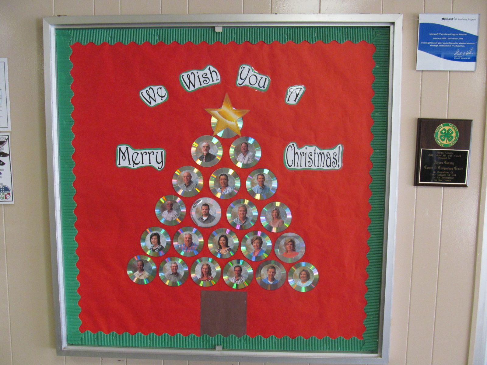 We Wish You A Merry Christmas School Faculty Bulletin Board