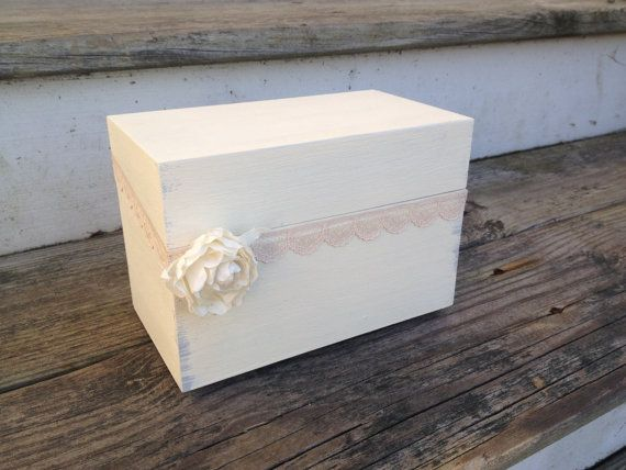 rustic recipe box  shabby chic decor rustic kitchen by PineNsign