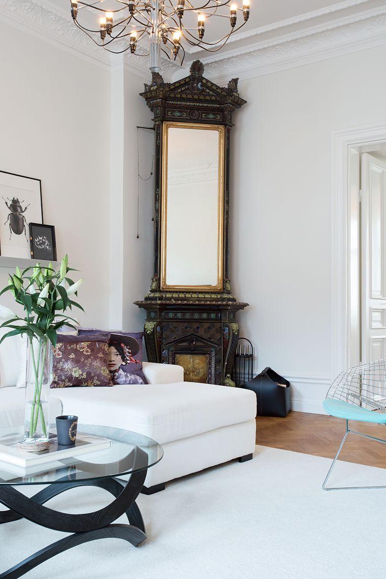 Grön kakelugn inredning pinterest indoor and spaces