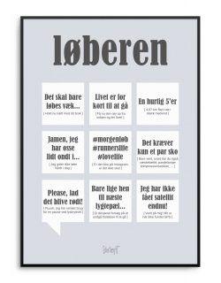 sort humor citater Sjov plakat med løber citater fra Dialægt | Citate | Humor și Words sort humor citater