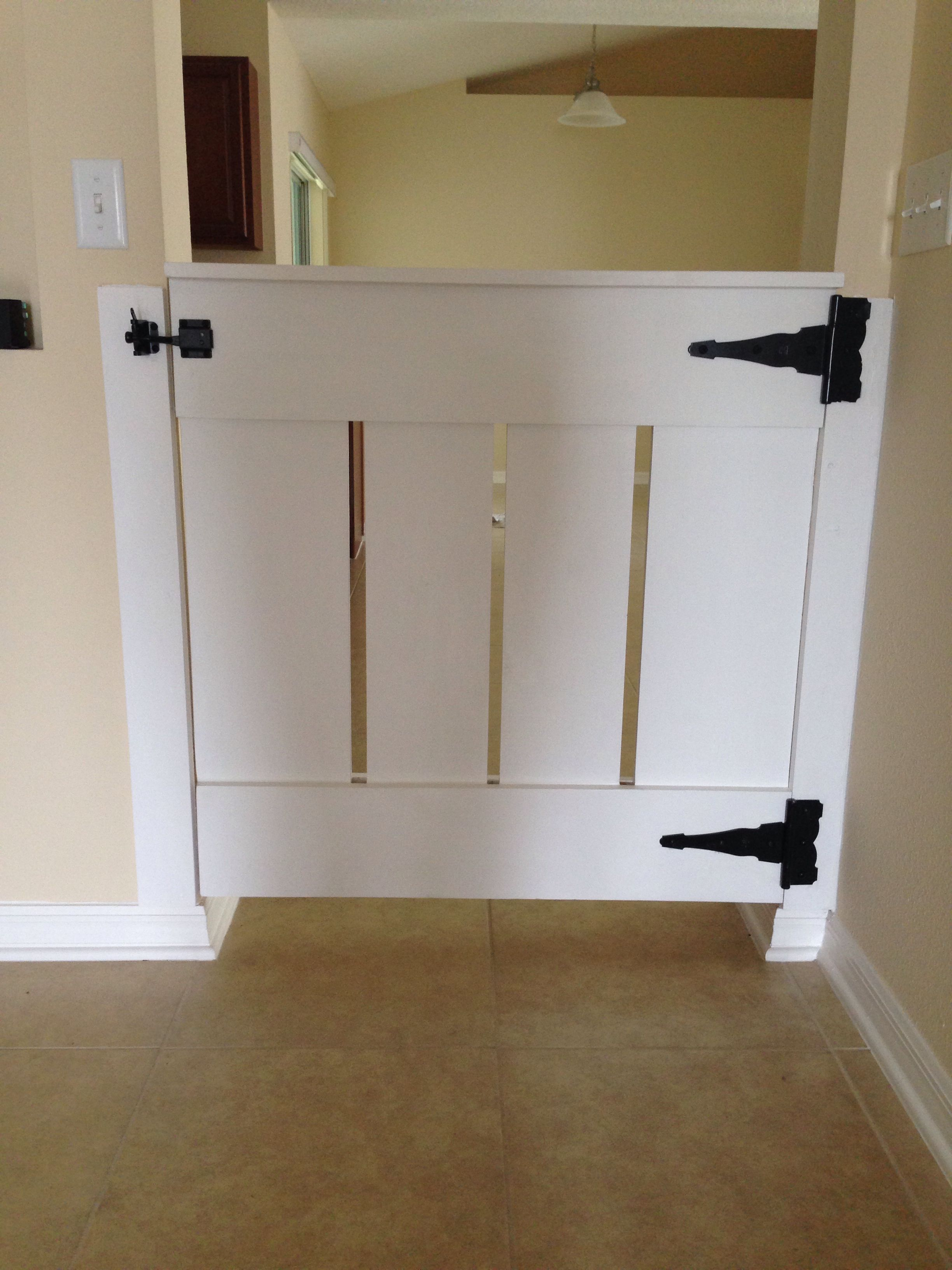 Dutch Door Baby Gate Homemade Wood Baby Gate Built By Ed Starnes For The Home
