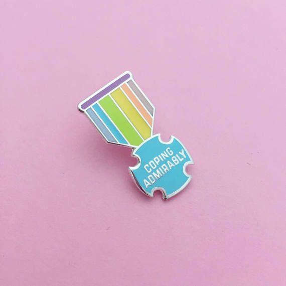 start today positivity enamel pin badge