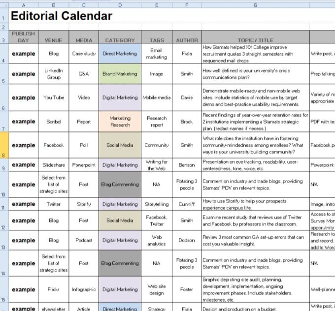 One-Window Drilldown Lists Pinterest Window - editorial calendar template
