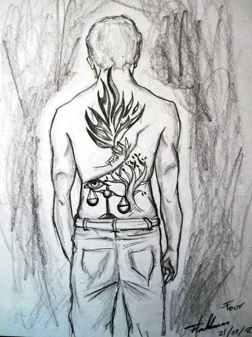 Fours Tattoos Divergent