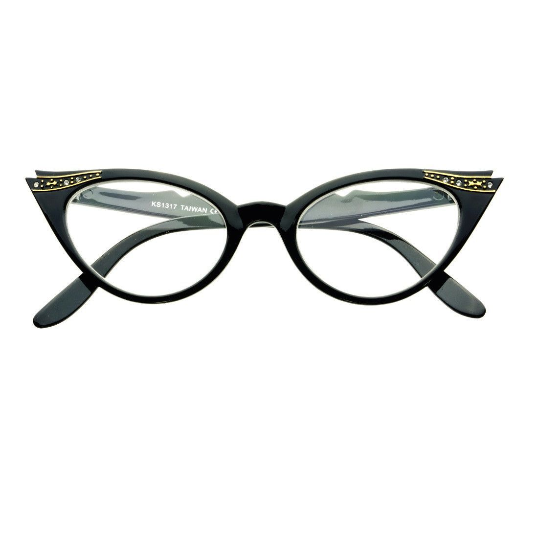 Womens Vintage Inspired Clear Lens Cat Eye Glasses Frames C68 | Fun ...