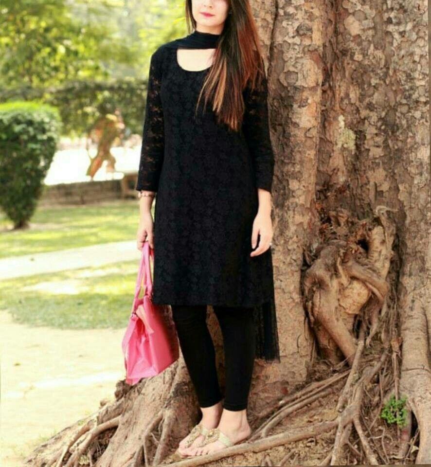 Pretty Black Net Kurti Black Net Dress Stylish Dresses Pakistani Dresses [ 960 x 886 Pixel ]