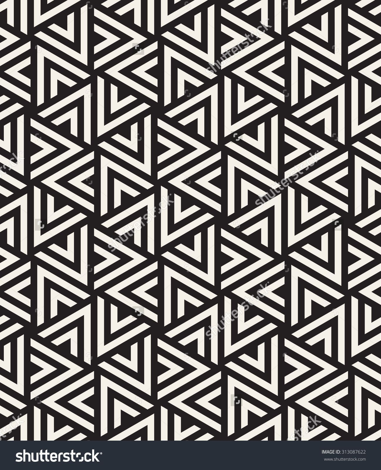 Vector Seamless Pattern Modern Stylish Texture Repeating Geometric Tiles With