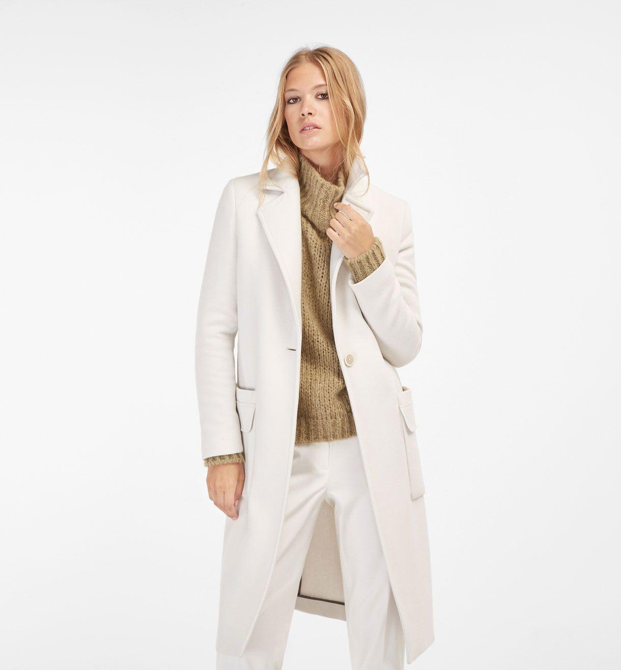 cappotto bianco donna elegante